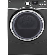 Genuine 7 5 cu  ft  Capacity Front Load Electric Dryer with Steam in Gray