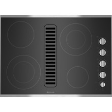 Jenn Air 30  Stainless Steel Electric Radiant Downdraft Cooktop   JED3430WS