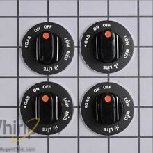New  4  Pack WHIRLPOOL OEM Cooktop Stove Burner KNOBS 4363812 786268 4321188
