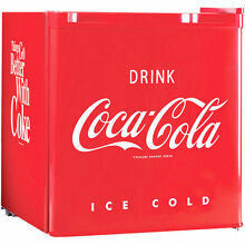 Coca Cola 1 7 Cu Ft Refrigerator Cooler Freezer Compartment Coke Vintage Soda