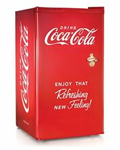Nostalgia Coca Cola Series RRF300SDBCOKE 3 2 Cubic Foot Refrigerator with Fre