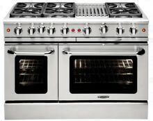 Capital MCR486BN 48  Range 6 Burner with BBQ  Natural Gas
