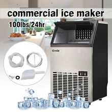 Commercial Ice Maker Stainless Steel Built In Undercounter Freestand 100lb 24hr