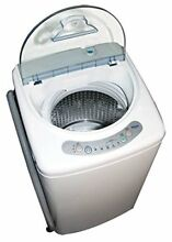 Portable washer 1 cubic foot stainless steel tub 3 wash cycles Pulsator Haier