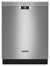 KitchenAid KDFE104DSS 24  Built In Dishwasher with Stainless Steel Tub New