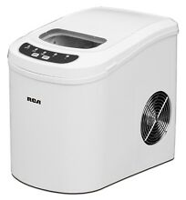 Compact Ice Maker Portable Delux Mini Nugget Soft Counter Top Cube Machine Red