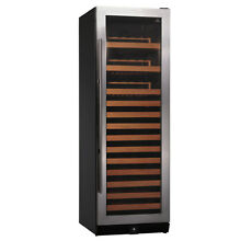 New KingsBottle 131 Bottles Wine Cooler with Seamless Stainless Steel Glass Door
