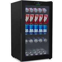 NUTRICHEF PKTEBC80 Compact Beverage Fridge  Can Chiller Refrigerator  132 Can
