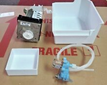 UNIVERSAL FOR WHIRLPOOL REFRIGERATOR COMPLETE ICE MAKER KIT  PLUG N GO  CHECK