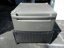 ONE  1   27  Washer Dryer Pedestal  Silver LG Kenmore WDP3S