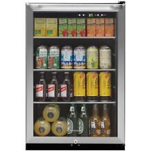 22 in  Beverage Center Can Cooler Drink Soda Beer Fridge Freestanding Glass Door