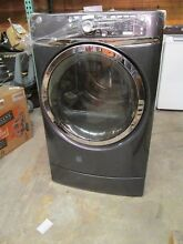 BRAND NEW GE 8 3 cu  ft  capacity Front Load electric dryer with steam   Gray