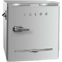 Igloo 1 6 Cu  Ft  Mini Retro Refrigerator  Moonbeam   Built In Bottle Opener