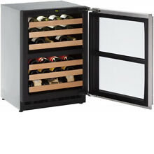 U Line Wine Captain 2000 Series   under counter   Glass door SS   U 2275ZWCS 00