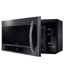 SAMSUNG 2 1 Cu Ft Microwave Multi Sensor Cooking Black Stainless ME21H706MQG AA