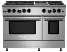 Blue Star RNB486CBV2 48  Gas Range with Charbroiler 6 Burners