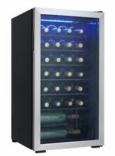 Danby 36 Bottle Freestanding Wine Cooler Stainless Steel New