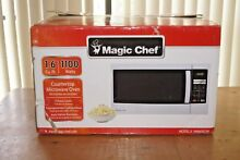 Magic Chef HMM1611W 1 6 cu  ft  Countertop Microwave in Stainless Steel New