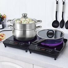 Costway 1800W Portable Electric Induction Cooktop Countertop Burner Digital H