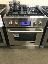 JGRP430WP  JENNAIR 30  PRO GAS RANGE  DISPLAY MODEL