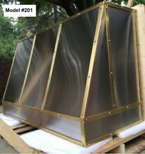 Custom Metal Hood Incl  Motor  La Cornue Hood  Stainless   Brass   Model  201