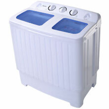 Quality Portable Mini Compact Twin Tub 17 6lb Washing Machine Washer Spin Dryer