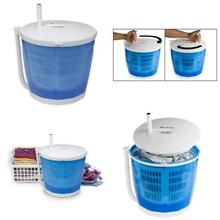 Portable Hand Cranked Manual Clothes Non Electric Washing Machine Spin Dryer NEW