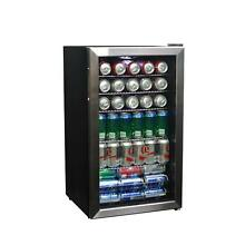 126 Can Cooler Beverage Center Beer Soda Fridge Drink Glass Door Freestanding