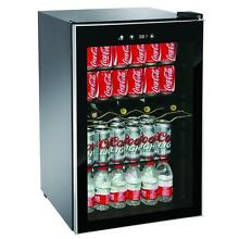 Black Beverage Center Can Cooler Soda Beer Fridge Drink Freestanding Glass Door