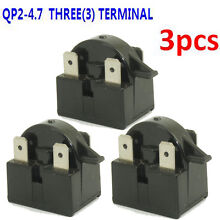 3  QP2 4R7 Fridge Freezer PTC Motor Start Relay Compressor Part For Ohm EdgeStar