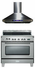 Verona Classic VCLFSEE365SS 36  Electric Range Oven Stainless Steel With Hood
