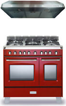 Verona Classic VCLFSGG365DR 36  Pro Style All Gas Range Oven Kitchen Package