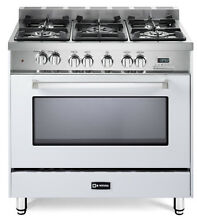 Verona VEFSGE365NW 36  Pro Style Dual Fuel Gas Range Single Oven White