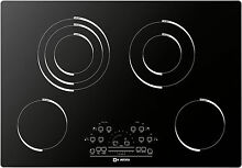 Verona VECTEM304 30  Smoothtop Electric Cooktop 4 Elements Black