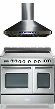 Verona Classic VCLFSEE365DSS 36  Electric Double Oven Range Stainless Package