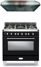 Verona Classic VCLFSGG365E 36  Pro Style All Gas Range Oven Kitchen Package