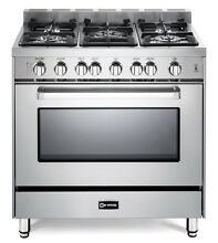 Verona VEFSGG365NSS 36  Pro Style All Gas Range Single Oven Stainless Steel