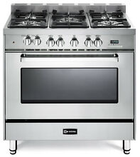 Verona VEFSGE365NSS 36  Pro Style Dual Fuel Gas Range Stainless Steel