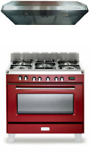 Verona Classic VCLFSGE365R 36  Pro Style Dual Fuel Gas Range Oven 2Pc Package