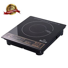 Commercial Induction Burner Electric Portable Countertop Cooktop Cooker 1800W D