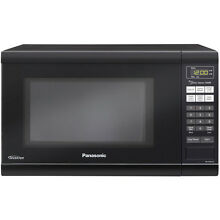 Panasonic Black 1 2 cu ft 1 200 Watt Countertop Microwave Oven with LCD Display