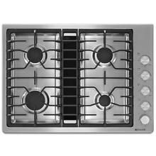 Jenn Air 30  JX3 Stainless Steel Gas Downdraft Cooktop JGD3430BS