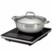 NEW Tramontina Induction Cooking System Set Portable Cooktop Tri Ply 3 piece