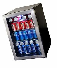 NewAir Beverage Cooler and Refrigerator  Small Mini Fridge with Glass Door