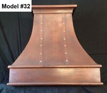 Custom Copper Hoods  All styles  All Metals WAll Or Island Hood   Model  32