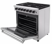 Thor Kitchen Stainless Steel Kitchen 36inch Gas Range Stove Oven LRG3601U