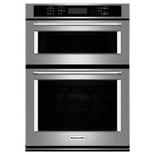 KitchenAid KOCE500ESS Stainless 30  Convection Wall Oven   Built In Microwave