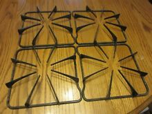 SET OF 4 Gas Stove Range Top Burner GRATE Square Black
