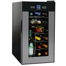 NUTRICHEF PKTEWCDS1 Digital Wine Refrigerator Chiller  Digital Black  18 Bottle