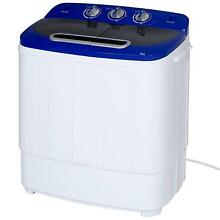 Portable 2 In 1 Compact Mini Washing Machine And Spin Dryer  Twin Tub Cleaning